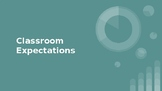 Classroom Expectations Template [A Classroom with Autism in Mind]