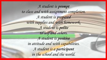 """Classroom Expectations: """"The 5 Ps"""""""