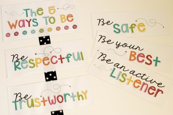 Classroom Expectations {The 5 Ways to Be}