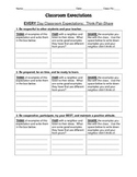 Classroom Expectations - Think Pair Share Activity