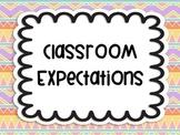 Classroom Expectations Tribal Aztec Bohemian Theme