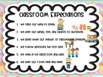 Classroom Expectations Tribal Aztec Bohemian Theme