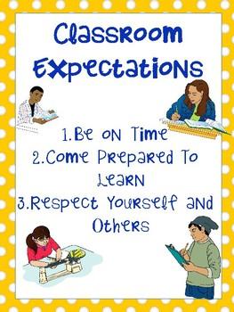 Classroom Expectations- Upper Grades