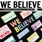 Classroom Expectations and Belief Subway Art: We Believe