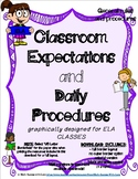Classroom Expectations and Daily Procedures - BEGINNING OF SCHOOL HANDOUTS (ELA)