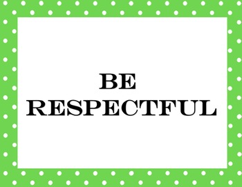 Classroom Expectations and Motto