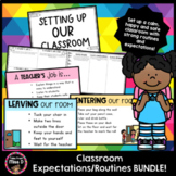 Classroom Expectations and Routines BUNDLE!