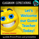 Classroom Expectations for Guest Teacher {Substitute}