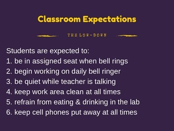 Classroom Expectations for High School