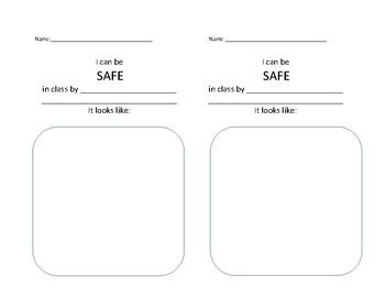 Classroom Expectations half-sheet