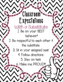 Classroom Expectations with a Substitute