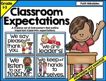 Classroom Expectations/Rules Bulletin Board Display 1st-3rd Grade ESL/ELL