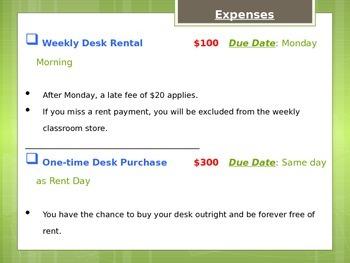 Classroom Expenses