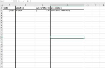 Classroom Expenses Tracker for Taxes