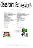 Classroom Expressions Italian