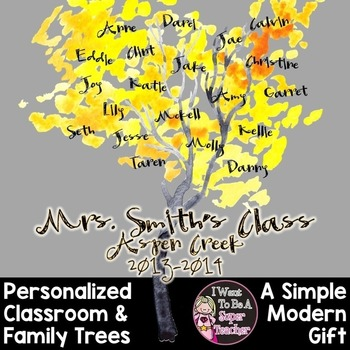 Classroom Family Trees-A Personalized Gift for Teacher Appreciation and Holidays