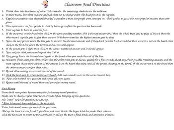 Classroom Feud- 4th Grade CCSS Review
