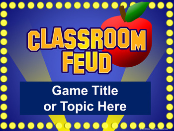 classroom feud powerpoint template  plays like family feud  tpt, Powerpoint