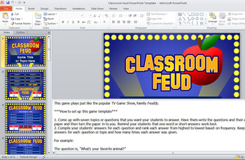 classroom feud powerpoint template - plays like family feud | tpt, Powerpoint templates