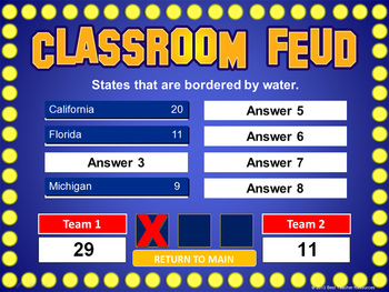 Classroom Feud PowerPoint Template - Plays Like Family Feud