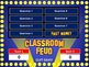 classroom feud powerpoint template plays by best