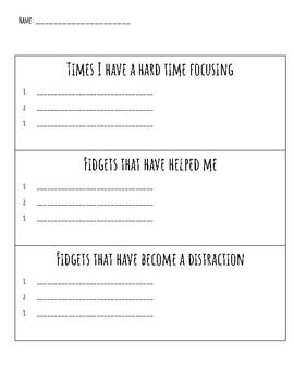 Classroom Fidget Expectations