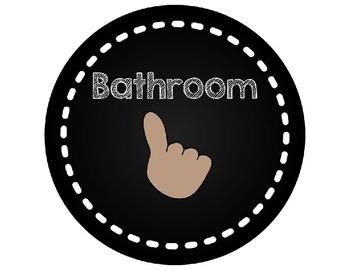 Classroom Finger Signals Posters