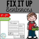 Editing Sentences Starter Pack: Capitalization, Punctuation, Spelling