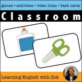 Classroom Flash Cards, Activities, and Games for ELL and ESL