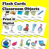 Classroom Objects Flash Cards. Print & Digital. English ESL EFL