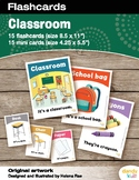 Classroom Flashcards / Set of 15 / Printable