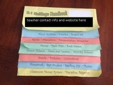 Classroom FlipBook Handbook - Great for Open House / Beginning of Year