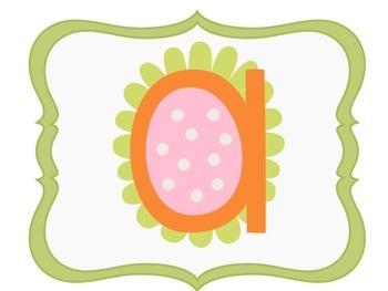 Classroom Flower Theme Alphabet