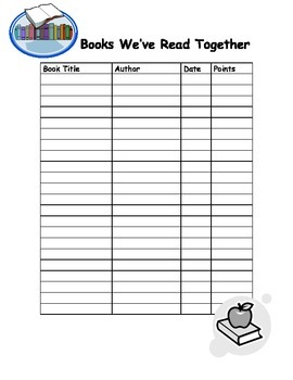 Classroom Form: Books We've Read Together