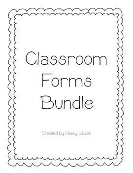 Classroom Forms Bundle