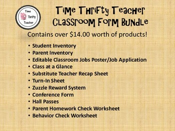 Classroom Forms Bundle (Time Thrifty Teacher)