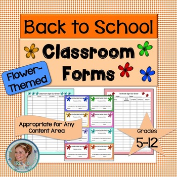 Classroom Forms - Flower-Themed