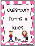 Classroom Forms & Labels