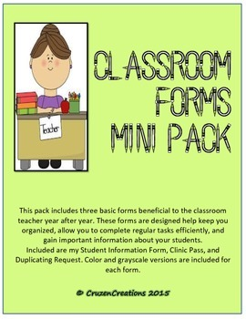 Classroom Forms Mini Pack