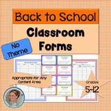 Classroom Forms - No Theme