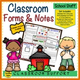 Classroom Forms, Notes & Awards for Lower Elementary