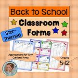 Classroom Forms - Star-Themed