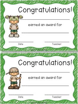 Classroom Forms and Documents Camping Theme
