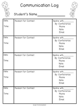Classroom Forms and Documents Ladybug Theme