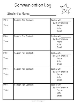 Classroom Forms and Documents Rainbow and Star Theme