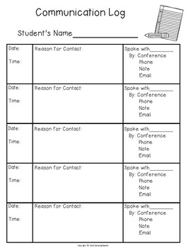 Classroom Forms and Documents School Theme