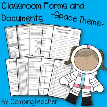 Classroom Forms and Documents Space Theme