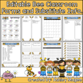 Editable Classroom Forms and Substitute Information - Bumb