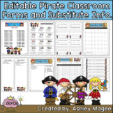 Editable Classroom Forms & Substitute Information - Pirate