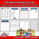 Editable Classroom Forms and Substitute Information - Read